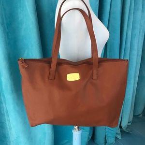 Joy Mangano Leather  tote bag. Saddle color